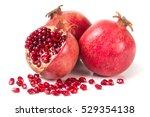 Three Pomegranate Isolated On ...