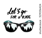 let's go for a ride. hand... | Shutterstock .eps vector #529356424