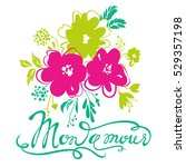 vector greeting card. colorful...   Shutterstock .eps vector #529357198