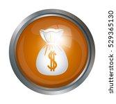 isolated money bag design   Shutterstock .eps vector #529365130