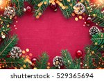 christmas background with xmas... | Shutterstock . vector #529365694