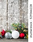 red  silver and white christmas ... | Shutterstock . vector #529366228