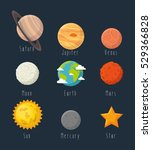 universe planets space concept | Shutterstock .eps vector #529366828