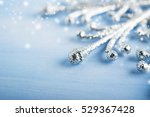 christmas silver snowflake on... | Shutterstock . vector #529367428