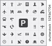 parking sign icon. airport