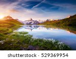 Small photo of Great view of Mt. Schreckhorn and Wetterhorn above Bachalpsee lake. Dramatic and picturesque scene. Popular tourist attraction. Location place Swiss alps, Grindelwald valley, Europe. Beauty world.