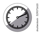 isolated clock design   Shutterstock .eps vector #529371610