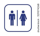 man and lady toilet sign vector.... | Shutterstock .eps vector #529374268