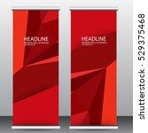 roll up business brochure flyer ... | Shutterstock .eps vector #529375468