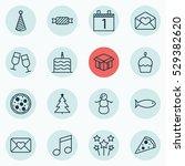 set of 16 celebration icons.... | Shutterstock .eps vector #529382620