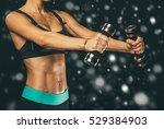 sport. woman sport body strong...   Shutterstock . vector #529384903