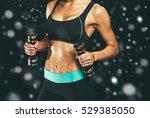 sport. woman sport body strong...   Shutterstock . vector #529385050