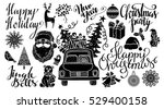 christmas and new year hand... | Shutterstock .eps vector #529400158
