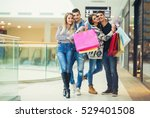 group of young friends shopping ... | Shutterstock . vector #529401508
