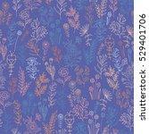 vector flower pattern. colorful ...   Shutterstock .eps vector #529401706