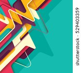 abstract style design. vector... | Shutterstock .eps vector #529403359