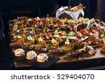snacks set. brushettas  canapes ... | Shutterstock . vector #529404070