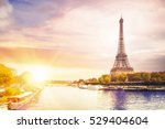Romantic Sunset Background Eiffel Tower - Fine Art prints