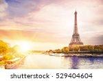 romantic sunset background.... | Shutterstock . vector #529404604