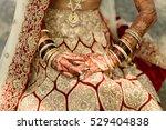 indian bride holds her hands... | Shutterstock . vector #529404838