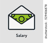 salary cash money minimal color ... | Shutterstock .eps vector #529406878