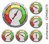 set of speedometer buttons with ...