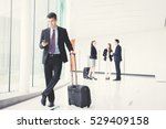 business people  flight... | Shutterstock . vector #529409158
