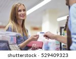 last step of the shopping is... | Shutterstock . vector #529409323