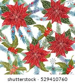 christmas seamless pattern with ... | Shutterstock .eps vector #529410760