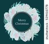 christmas vector wreath.... | Shutterstock .eps vector #529410778
