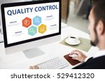 quality control check product... | Shutterstock . vector #529412320