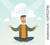 caucasian hipster businessman... | Shutterstock .eps vector #529412746