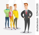 angry caucasian business man... | Shutterstock .eps vector #529413220