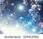 winter holiday snow background. ... | Shutterstock . vector #529413583