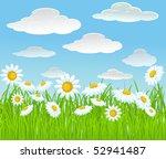 summer vector background. | Shutterstock .eps vector #52941487