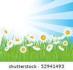summer vector background. | Shutterstock .eps vector #52941493