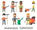 lumberjack with beard holding... | Shutterstock .eps vector #529415419