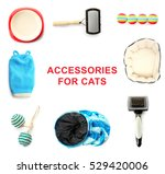 Stock photo different cats accessories on white background 529420006