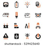 electricity web icons for user... | Shutterstock .eps vector #529425640