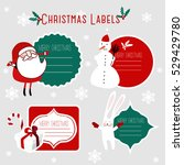 christmas labels | Shutterstock .eps vector #529429780