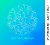 line web development icons... | Shutterstock .eps vector #529434514