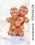 christmas decoration with happy ... | Shutterstock . vector #529436128