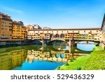 famous landmark ponte vecchio... | Shutterstock . vector #529436329