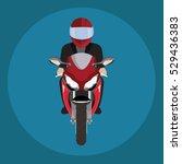 Man In A Helmet Riding...