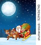 vector illustration of santa... | Shutterstock .eps vector #529436740