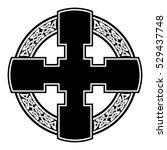 vector celtic cross for use in...   Shutterstock .eps vector #529437748