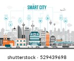 smart city with smart services... | Shutterstock .eps vector #529439698