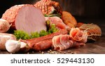 assorted meat products... | Shutterstock . vector #529443130