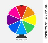 wheel of fortune  lucky icon. ... | Shutterstock . vector #529445008