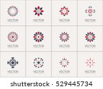 geometric logo template set.... | Shutterstock .eps vector #529445734
